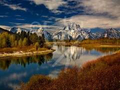 WYOMING Mount Moran and Snake River