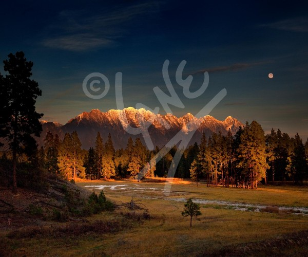 BRITISH COLUMBIA Cranbrook Moonrise