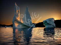 Twillingate, iceberg at dusk