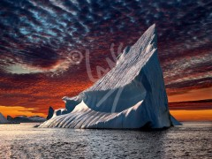 Twillingate, iceberg sunset