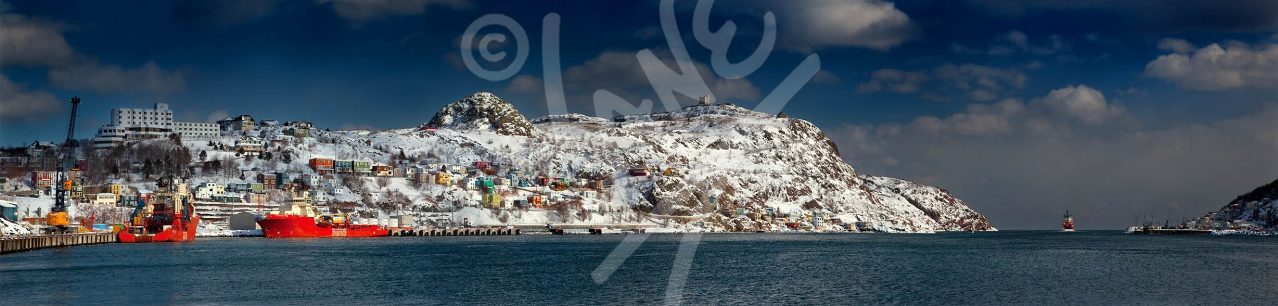 St. John's, harbour in winter