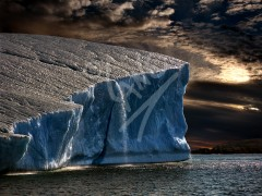 Twillingate iceberg sunset